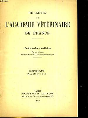 Bulletin de l'Académie vétérinaire de France Extrait, tome XV, N° 1 :...