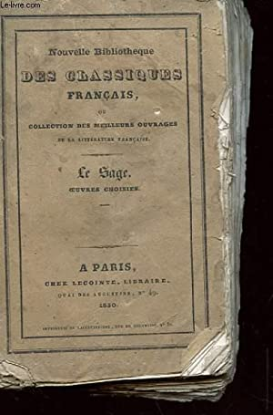 OEUVRES CHOISIES: LE SAGE