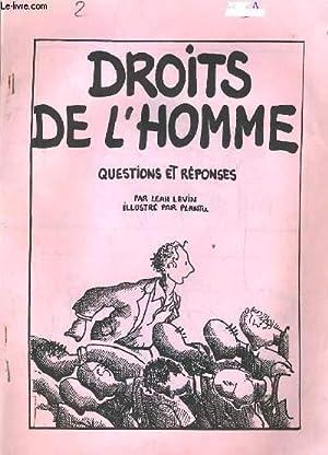 DROITS DE L'HOMME. QUESTIONS ET REPONSES: LEAH LEVIN /