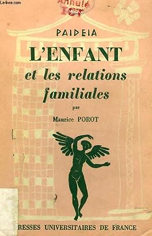 L'ENFANT ET LES RELATIONS FAMILIALES: POROT Dr MAURICE