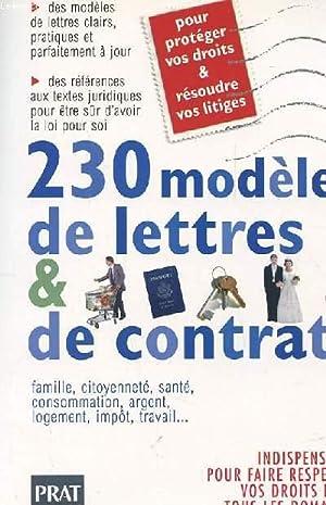 230 MODELES DE LETTRES ET CONTRATS: COLLECTIF