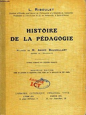 HISTOIRE DE LA PEDAGOGIE: RIBOULET L.