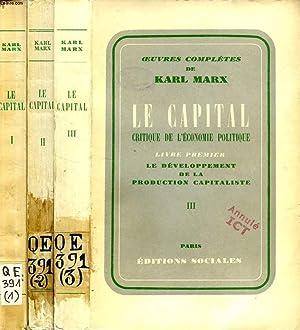 LE CAPITAL, CRITIQUE DE L'ECONOMIE POLITIQUE, LIVRE: MARX KARL