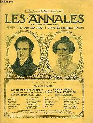 LES ANNALES POLITIQUES ET LITTERAIRES N° 1491Le Roman des Fiancés - Lettres iné...