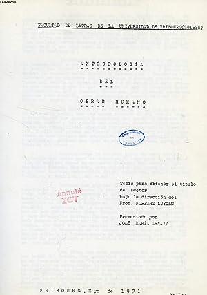 ANTROPOLOGIA DEL OBRAR HUMANO (TESIS): ARNAIZ JOSE MARIA