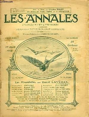 LES ANNALES POLITIQUES ET LITTERAIRES N° 1399 Croquis Parisiens - Hirondelles, par Henri ...