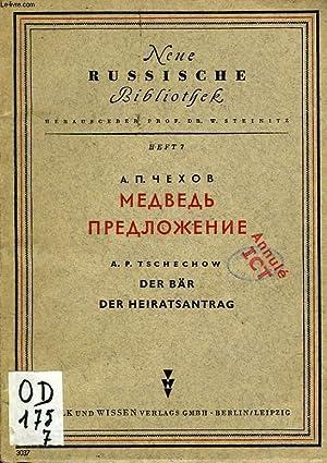 DER BAR DER HEIRATSANTRAG: TSCHECHOW A. P.
