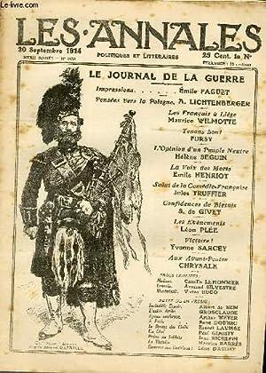 """LES ANNALES POLITIQUES ET LITTERAIRES N° 1630 Un """"Pipper"""" écossais, d'apr..."""