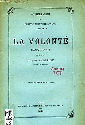 LA VOLONTE, DISCOURS: COUTURE M. LEONCE