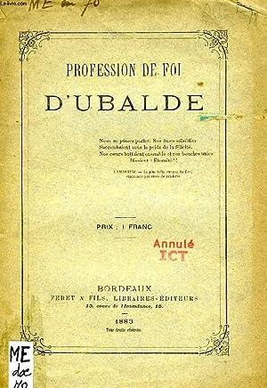 PROFESSION DE FOI D'UBALDE: COLLECTIF