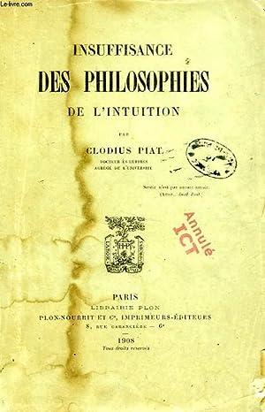 INSUFFISANCE DES PHILOSOPHES DE L'INTUITION: PIAT CLODIUS