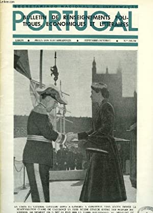 PORTUGAL, N° 235-236, SEPT.-OCT. 1955, BULLETIN DE RENSEIGNEMENTS POLITIQUES, ECONOMIQUES ET ...