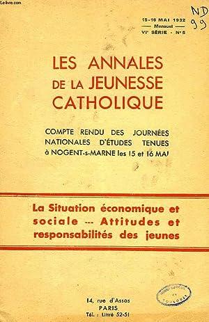 LES ANNALES DE LA JEUNESSE CATHOLIQUE, VIe SERIE, N° 5, 15-16 MAI 1932: COLLECTIF