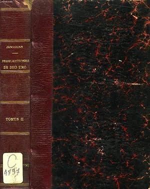 PRAELECTIONES DE DEO UNO, TOMUS II (I.-Q. XIV-XXVI): JANSSENS LAURENTIUS