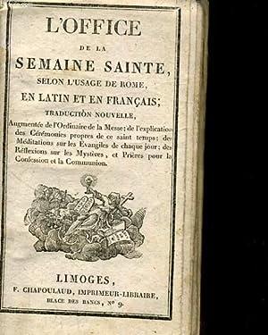 L'OFFICE DE LA SEMAINE SAINTE SELON L'USAGE: COLLECTIF