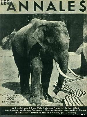 """LES ANNALES POLITIQUES ET LITTERAIRES N° 2499 Au nouveau """"Zoo"""" de Vincennes (Photo ..."""
