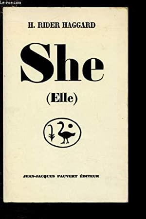 "SHE (ELLE) - COLLECTION ""LES INDES NOIRES"": RIDER HAGGARD H."