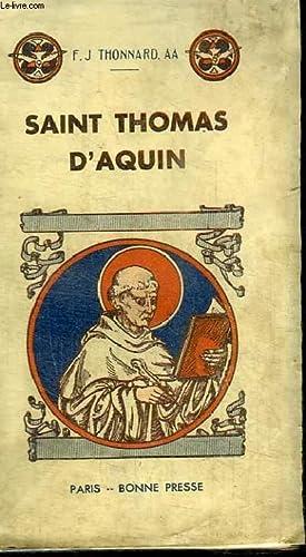 SAINT THOMAS D AQUIN: THONNARD F. J