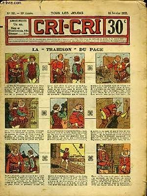 """Cri-Cri n°751, 16ème année : La """"Trahison"""": PEGUET & COLLECTIF"""