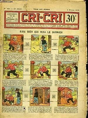 Cri-Cri n°750, 16ème année : Rira bien: PEGUET & COLLECTIF
