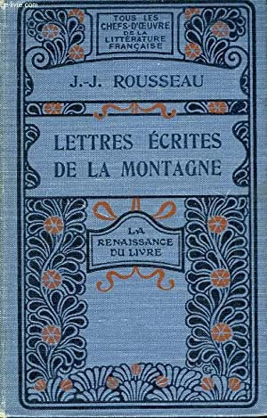 Lettres écrites de la Montagne.: ROUSSEAU J.J.