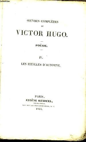 Oeuvres Complètes de Victor Hugo. Poésie, TOME: HUGO Victor