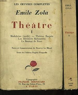 Les Oeuvres Complètes d'Emile Zola. Théâtre. En: ZOLA Emile