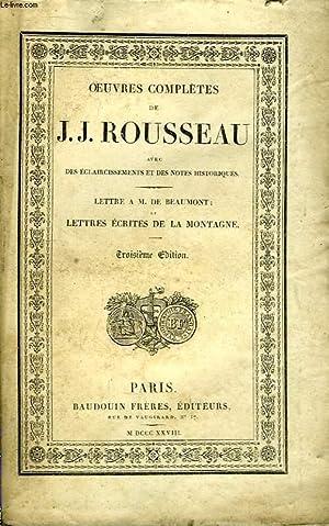 Oeuvres Complètes de J.J. Rousseau. TOME 7: ROUSSEAU J.-J.