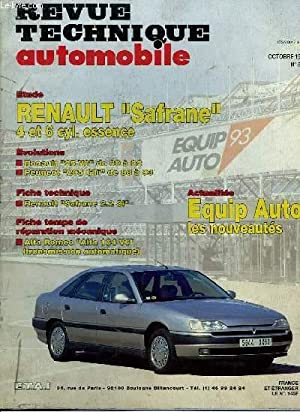 Revue Technique Automobile N°555 : Renault Safrane,: CROMBACK Michel &