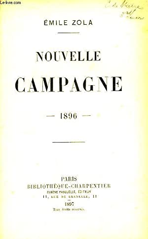 Nouvelle Campagne 1896: ZOLA Emile