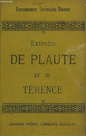 Extraits de Plaute et de Térence.: PLAUTE ET TERENCE,