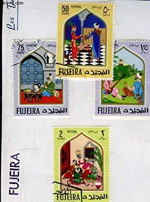 Collection de 4 timbres-poste oblitérés, de Fujeira.