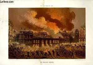 Paris et ses Ruines. Le Palais Royal,: NANTES Lith. /