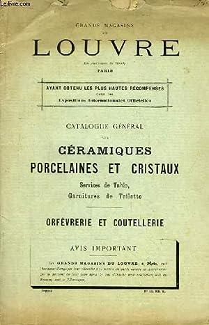 Catalogue Général des Céramiques, Porcelaines et Cristaux,: GRANDS MAGASINS DU