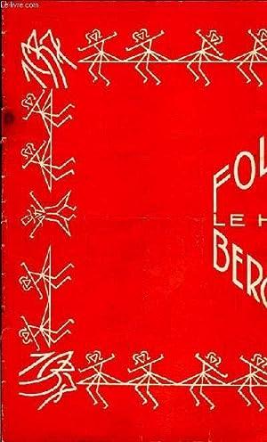 "Programme des Folies Bergères : ""No .: FOLIES BERGERES"