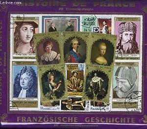 Collection de 25 timbres-poste oblitérés, sur les: TIMBRE-POSTE