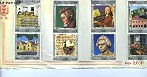 Collection de 8 timbres-poste neufs, de Sharjah & Dependencies. Mozart, Beethoven.