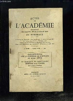 Actes de l'Académie Nationale des sciences, belles-lettres: DUFOURG Robert M.