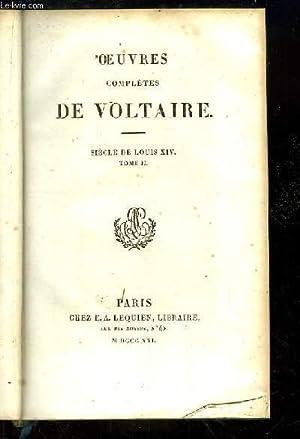 Oeuvres complètes de Voltaire. TOME 20 : VOLTAIRE