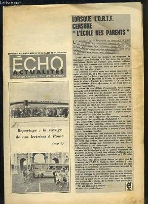 Echo Actualités Programmes TV et Radio. Supplément: BEYTOUT P. &
