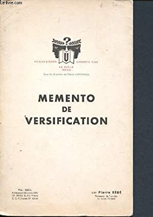 Memento de versification: Useldinger Pierre, Bédé
