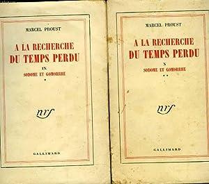 A la recherche du temps perdu. 2 tomes: PROUST Marcel