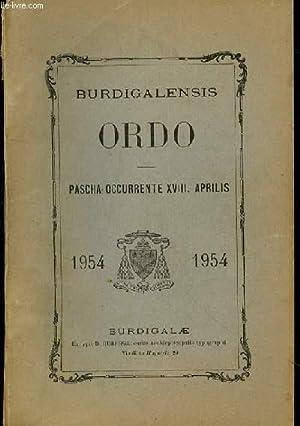Burdigalensis. Ordo. Pascha occurrente XVIII. Aprilis: RICHAUD Paul Cardinal