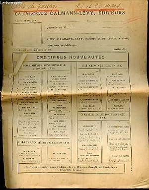 Catalogue Calmann-Lévy, éditeurs: CALMANN-LEVY