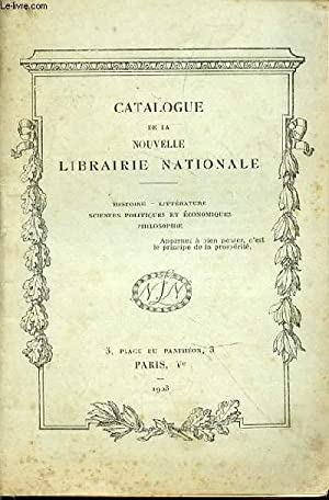Catalogue de la Nouvelle Librairie Nationale: Nouvelle Librairie Nationale