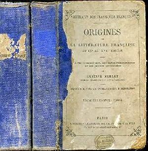 Origines de la littérature française du IXè au XVIIè siècle avec une introduction, des notes ...