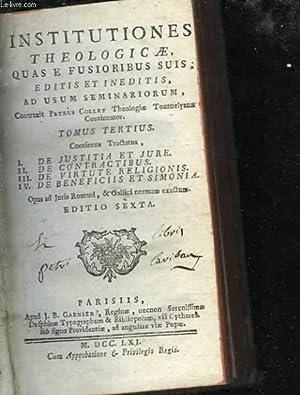 Institutiones theologicae, quas e fusioribus suis, editis