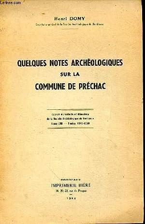 Quelques notes archéologiques sur la commune de: DOMY Henri