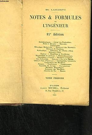 Notes et formules de l'ingénieur: DE LAHARPE