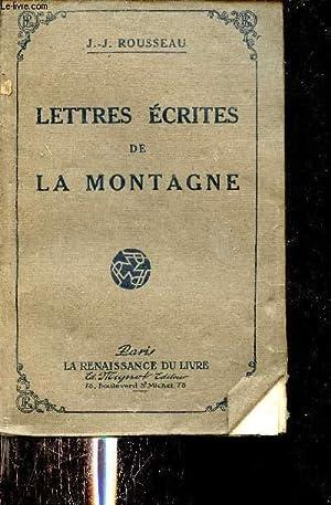 Lettres écrites de la montagne.: Rousseau Jean Jacques